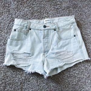 RVCA Women's Boyfriend Denim Shorts